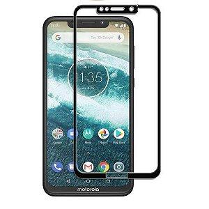 Película de Vidro 3D 5D Motorola Moto One - Preta