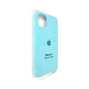 Capa Case Apple Silicone para iPhone 11 - Azul Aguamarinha