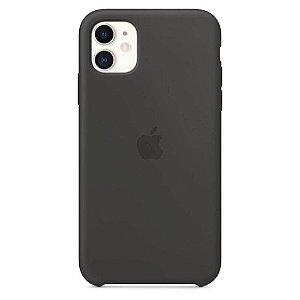 Capa Case Apple Silicone para iPhone 11 - Preta