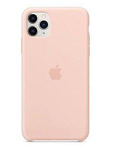 Capa Case Apple Silicone para iPhone 11 Pro Max - Rosa Areia