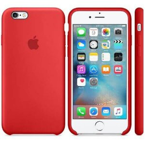 Capa Case Apple Silicone para iPhone 6G 6S - Vermelha
