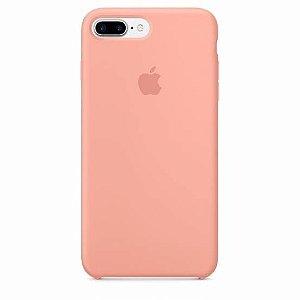 Capa Case Apple Silicone para iPhone 7 8 Plus - Rosa