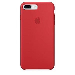 Capa Case Apple Silicone para iPhone 7 8 Plus - Vermelha