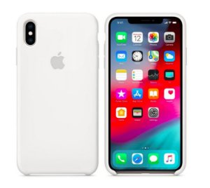 Capa Case Apple Silicone para iPhone X Xs - Branca