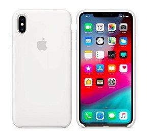 Capa Case Apple Silicone para iPhone X Xs - Branca