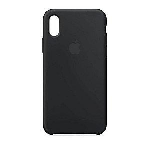 Capa Case Apple Silicone para iPhone X Xs - Preta