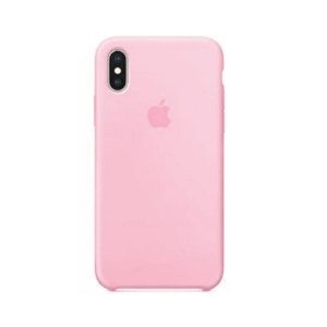 Capa Case Apple Silicone para iPhone X Xs - Rosa