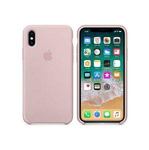 Capa Case Apple Silicone para iPhone X Xs - Rosa Areia