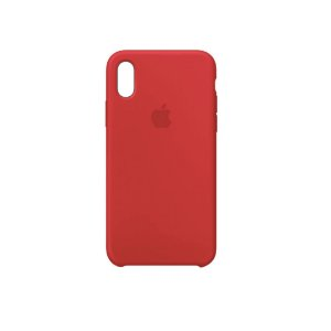 Capa Case Apple Silicone para iPhone X XS - Vermelha