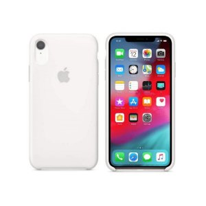 Capa Case Apple Silicone para iPhone XR 6.1 - Branca