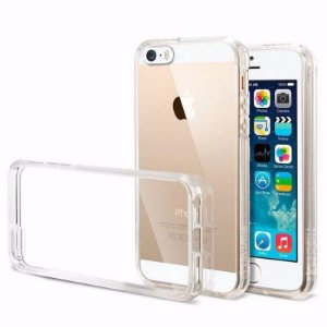 Capa Incolor Tpu Para Iphone 5 5S Silicone Maleavel