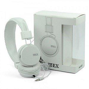 Fone de Ouvido Stereo Headphone MEX-IN-865 1,2m - Branco