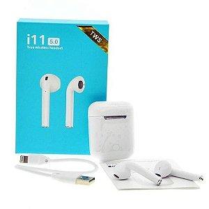 Fone de Ouvido Bluetooth TWS i11 5.0 - Branco