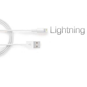 Kit 5 Cabos Lightning compatível com iPhone 6, 7 , 8
