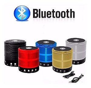 Caixa de som Bluetooth Pendrive, Cartão SD e Rádio