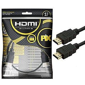 Cabo HDMI 1 Metro Transmissão em 4k Ultra HD