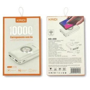 Carregador Portatil Power Ban 10000mAh Kaidi KD-230