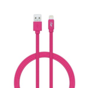 Cabo USB Lightning para iPhone 1,2m 2,4A i2GO - Rosa