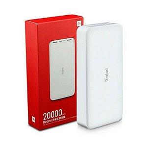 Carregador Portatil Power Bank Xiaomi 20.000mAh - Branco