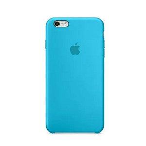 Capa Case Apple Silicone para iPhone 6G 6S - Azul Turquesa
