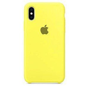 Capa Case Apple Silicone para iPhone X Xs - Amarelo