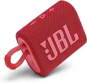 JBL GO 3 Caixa de som portátil à prova d'água - Vermelha