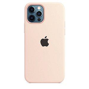 Capa Case Apple Silicone para iPhone 12 e 12 PRO - Rosa Areia