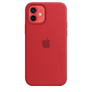 Capa Case Apple Silicone para iPhone 12 e 12 PRO - Vermelho