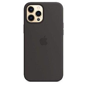 Capa Case Apple Silicone para iPhone 12 Pro Max - Preta