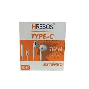 Fone de Ouvido Estéreo Tipo-C - HRebos