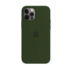 Capa Case Veludo para iPhone 12 e 12 PRO - Verde Militar