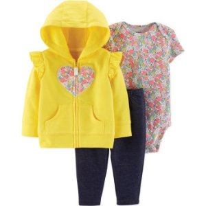 Conjunto de 3-peças- Jaqueta , calça e body floral
