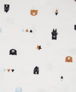 Conjunto de 3 peças- Jaqueta, calça e body ursinho