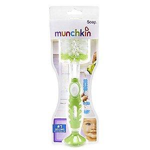 Escova de mamadeira com recepiente verde- Munchkin