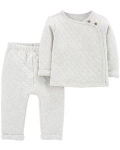 Conjunto de 2 peças- Cardigan e calça
