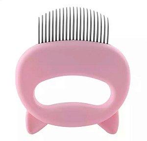 Escova massageadora rosa