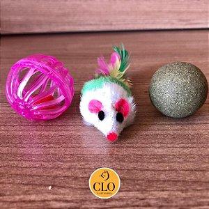Kit brinquedos bolinhas e ratinho