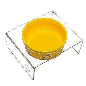 Comedouro cerâmica acrílico Cat Family Yellow CloGatíssima