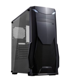 GABINETE GAMER GM8001 BLACK SEM FONTE