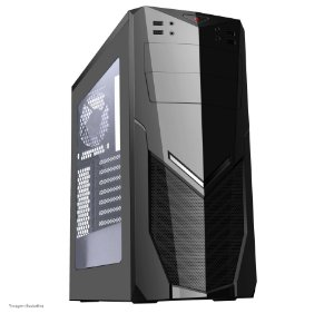 GABINETE GAMER 7025BB BLACK SEM FONTE