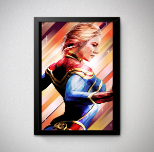 Quadro Decorativo Capitã Marvel