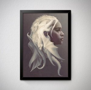 Quadro Decorativo Game of Thrones - Daenerys Targaryen