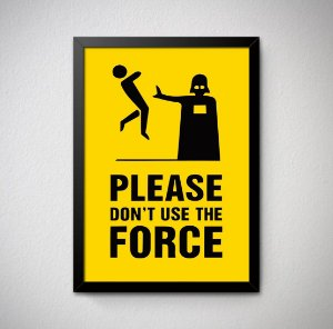 Quadro Decorativo Please Don't Use the Force