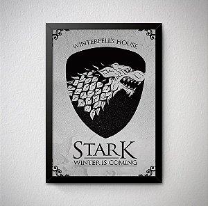 Quadro Decorativo Game of Thrones - House Stark