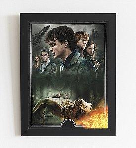 Quadro Decorativo Harry Potter Moldura e Vidro