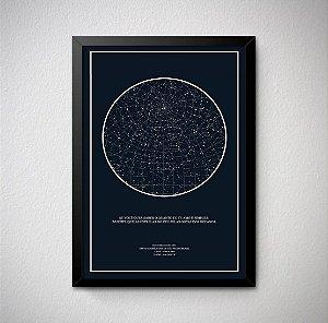 Quadro Decorativo Mapa das Estrelas