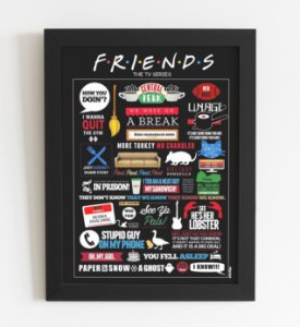 Quadro Decorativo Friends A3 (44x34cm)