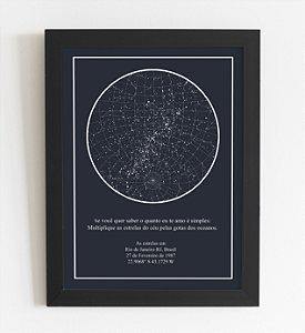 Quadro Decorativo Mapa das Estrelas A3 (44x34cm)