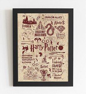 Quadro Decorativo Harry Potter A3 (44x34cm)