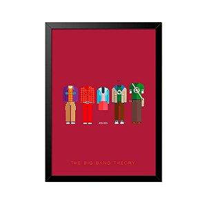 Quadro Poster The Big Bang Theory Roupas 33x23cm